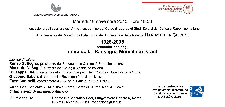 Invito indici RMI 16.11.10