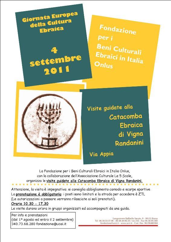 Locandina Giornata Cultura Vigna Randanini