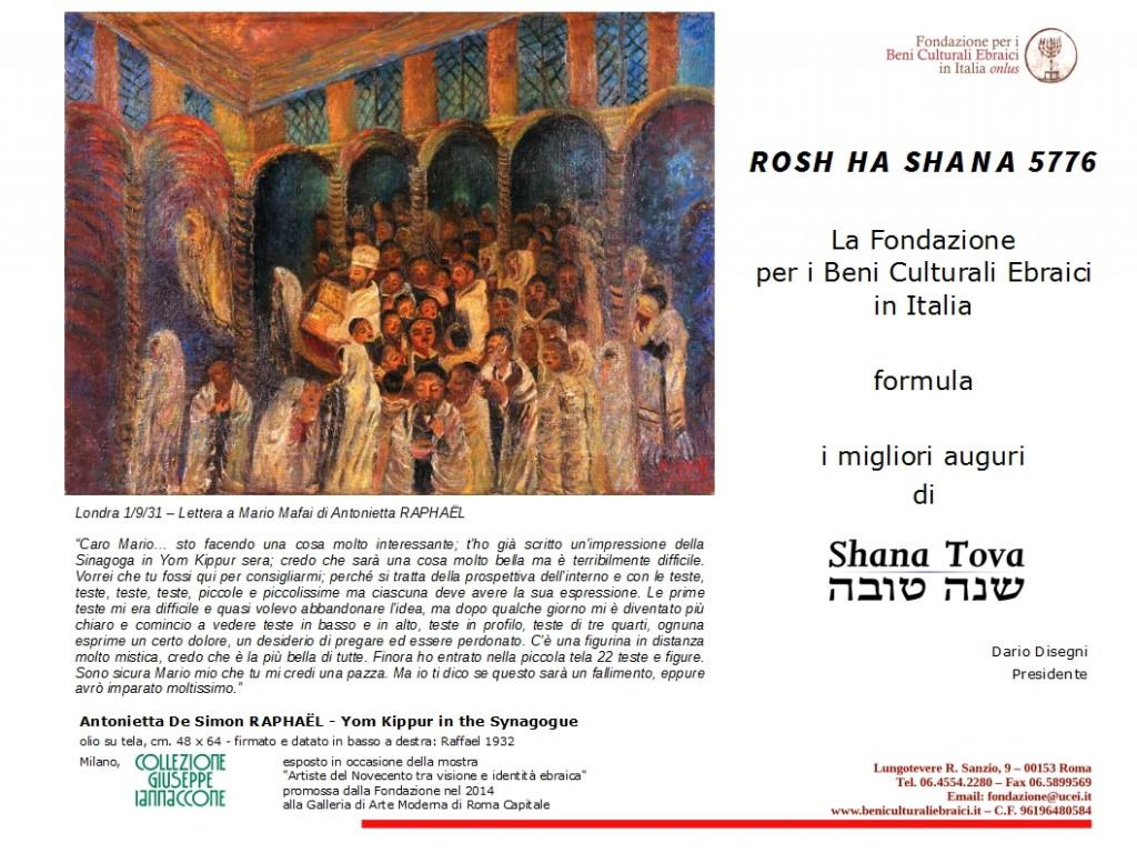 Auguri Rosh Ha Shanà 5776