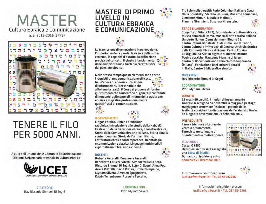 Bando Ucei Master 2015-2016