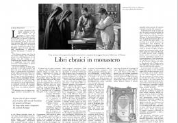 Parlano di noi: L'Osservatore Romano – Libri ebraici in monastero